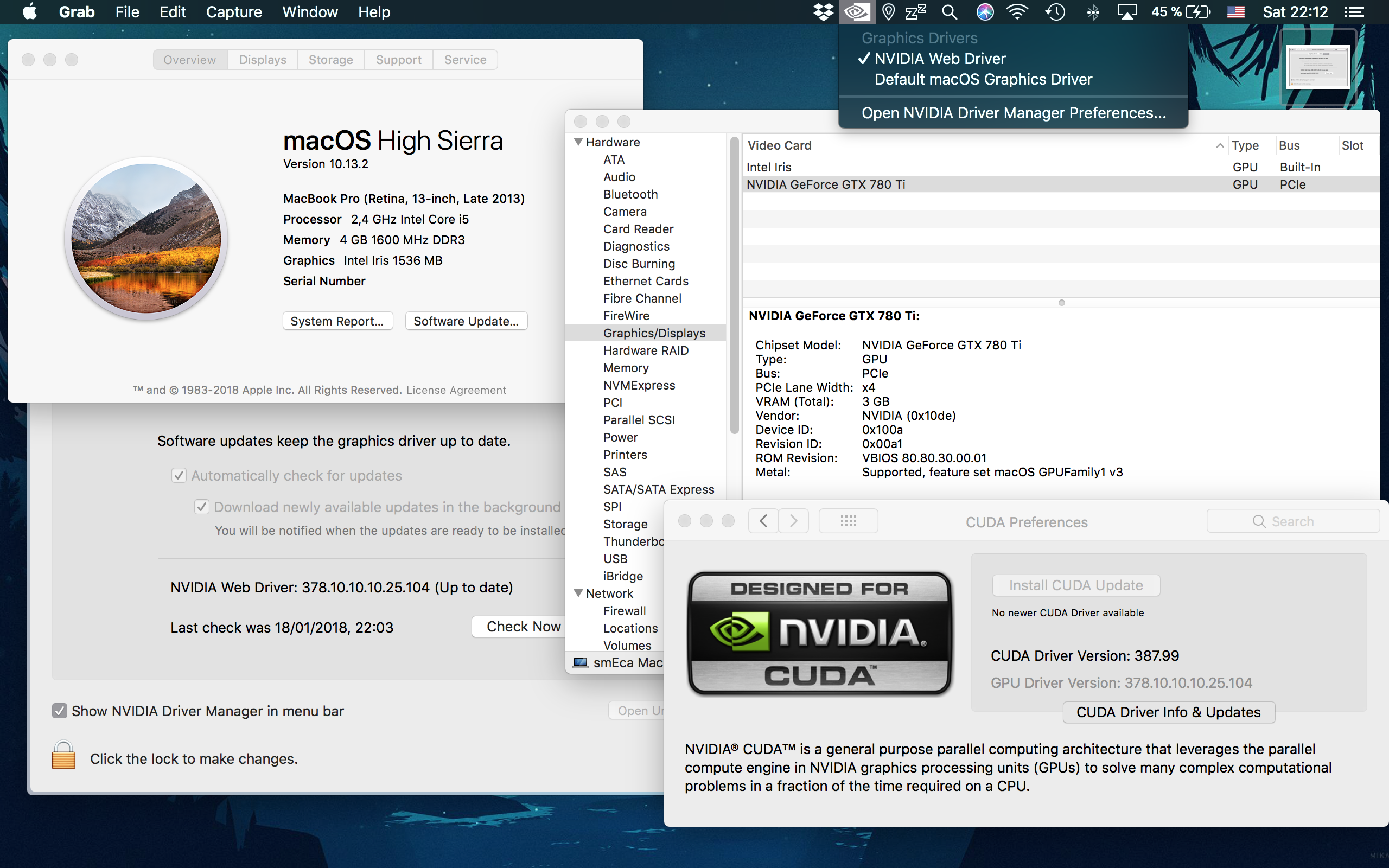 APP] NVIDIA eGPU support for High Sierra (NVIDIAEGPUSupport) – Page